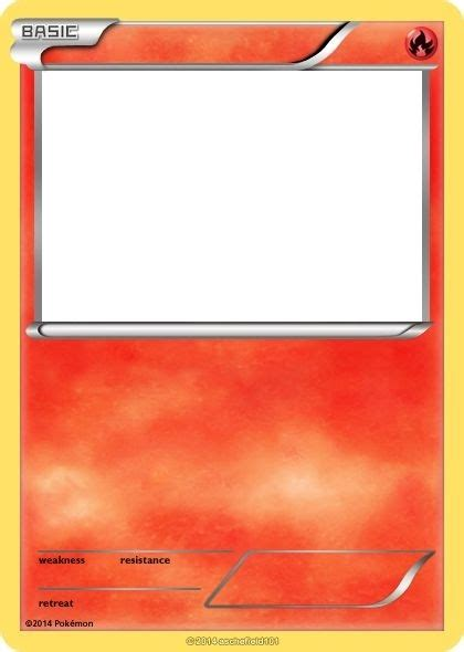 Make Your Own Pokemon Card Template