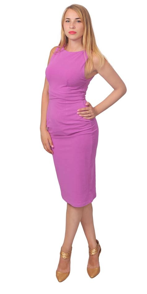 Slim Fit Bodycon Dress bodycon wiggle pencil dress casual evening sleeveless slim