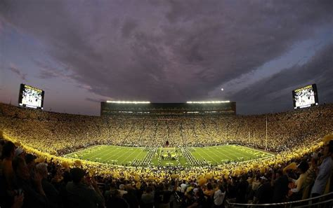 Where Is The Big House by Michigan And Penn State To Be Played The Lights Of