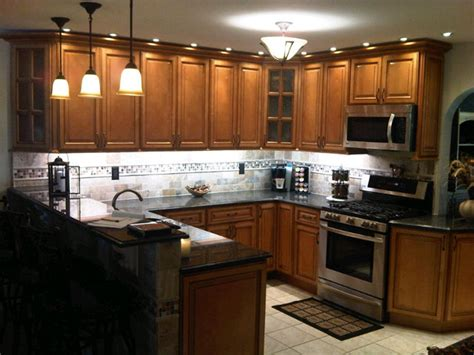 Light Brown Kitchen Cabinets Sandstone Rope Door Rope Lights Above Cabinets In Kitchen