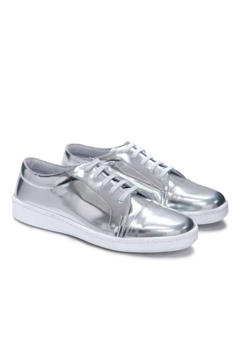 silver sneakers miista silver sneaker from des moines by peep toe shoptiques
