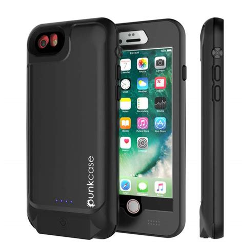 punkjuice iphone   external battery case black waterproof