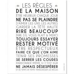 Affiche Les Regles De La Maison 2923 by Les Rgles De La Maison Articles De Dcoration De La