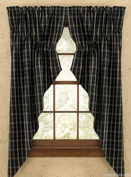 country quilts and curtains blackstone lined gathered window curtain swag country