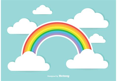 picture illustration cute rainbow illustration download free vector art