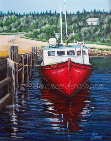 boat insurance nova scotia fishing boat acrylic by kevin cameron jordan bay nova