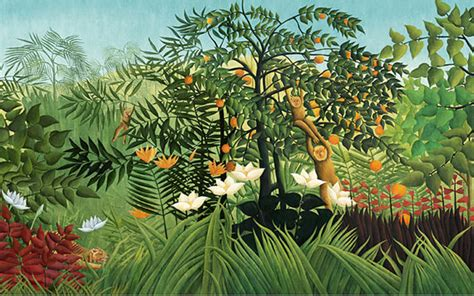 rousseau s dream tropical jungle wallpaper primary forest