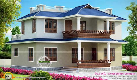double bedroom house designs 3 bedroom double storied kerala home kerala home design and floor plans
