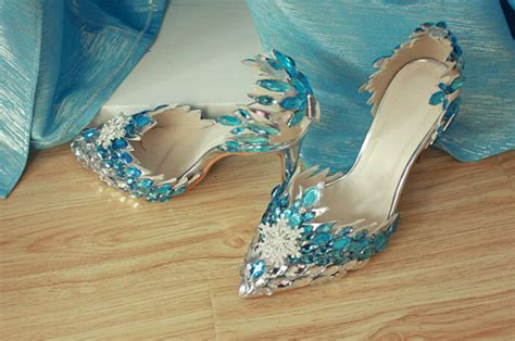 frozen high heels handmade high quality frozen elsa 10 cm high