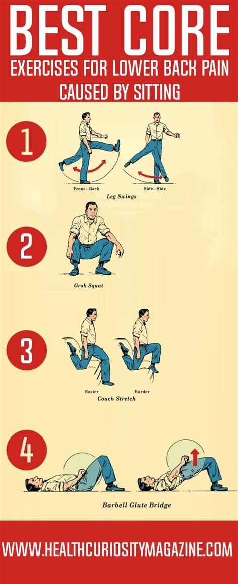 best exercises for lower back caused by sitting