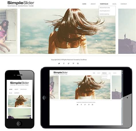 theme wordpress with slider free premium premium portfolio responsive wordpress themes