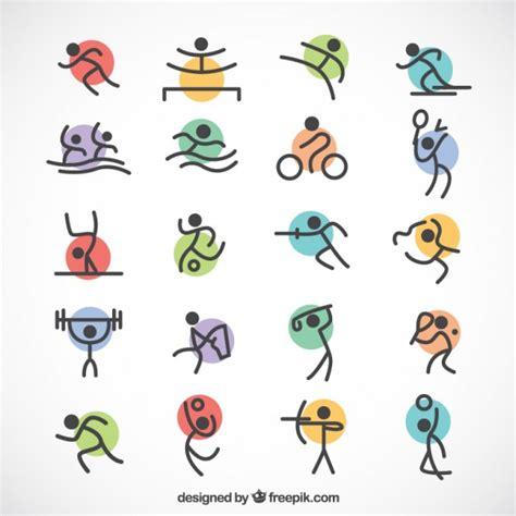 imagenes figuras minimalistas deportes ol 237 mpicos minimalistas con c 237 rculos de colores