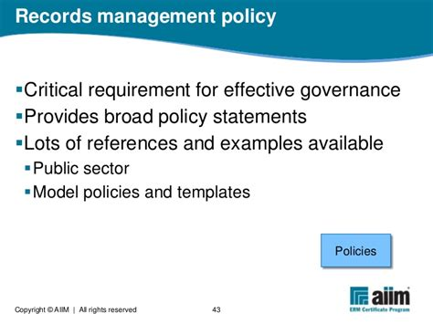 records management policy template what is electronic records management
