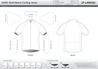 Aa Short Sleeve Cycling Jersey Template Catalog 1 By Limkoo Limited Issuu Mtb Jersey Design Template