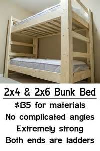 Easy To Make Bunk Beds Easy Strong Cheap Bunk Bed Wood Working Thors Hammer Caves And The