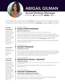 abigail gilman social media manager resume