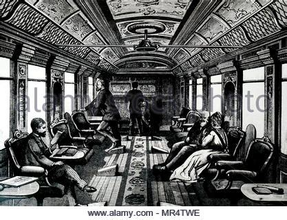 orient express interior of the orient express stock photo