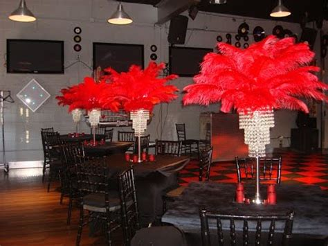 Cristal Chandeliers Themed Red Carpet Centerpieces By Sweet 16