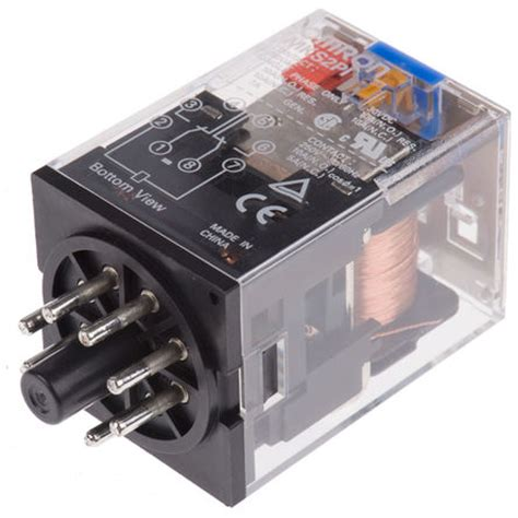 Relay 12v 10a Omron mks2pi dc12 omron dpdt in non latching relay 12v dc coil 10 a omron