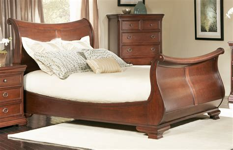 king sleigh bed frame sleigh bed for an interesting bedroom setting