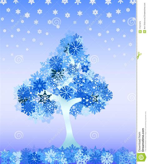 winter tree snowflakes stock vector winter tree from snowflakes royalty free stock photo image 17521975