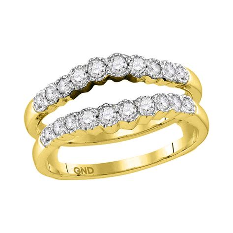 14kt yellow gold womens wrap ring guard