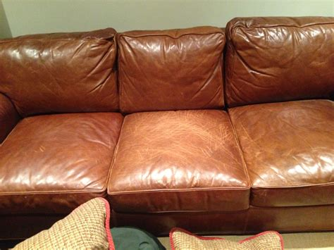 pull up leather sofa aniline wax pull up scuffs and scratches how to repair