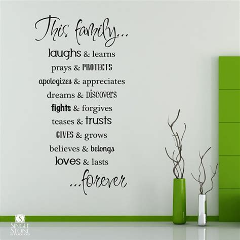 wall sticker words family wall decals vinyl text wall words sticker