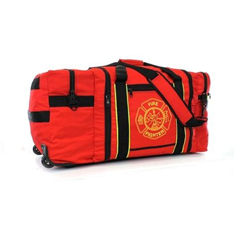 the firestore thefirestore deluxe jumbo firefighter gear bag with wheels