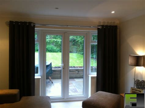 what size pole for eyelet curtains 50mm chrome pole fitted for eyelet curtain in chalfont st