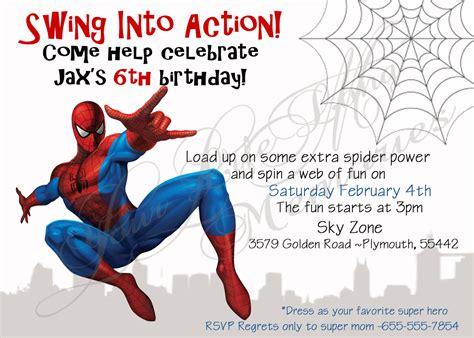 spiderman birthday invitations ideas bagvania