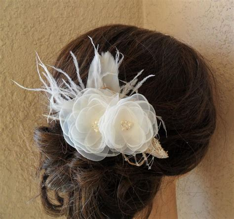 Bridal Hair Accessory Rustic Hair Piece Wedding Hair Shabby Chic Wedding Accessories