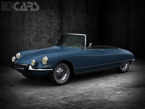 Citroen Ds19 by Citroen Ds19 Cabrio 1964 3d Model Tga Cgtrader