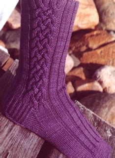 Scottish Braids Of Color On Socks | ravelry celtic braid socks 157 pattern by lynda gemmell