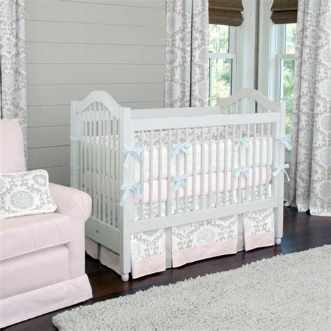 Trendy Baby Bedding Crib Sets A Baby S Nursery Designer Crib Bedding In Pink Traditional Atlanta By