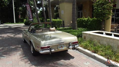 1969 mercedes sl pagoda excellent condition two tops new paint new carpets