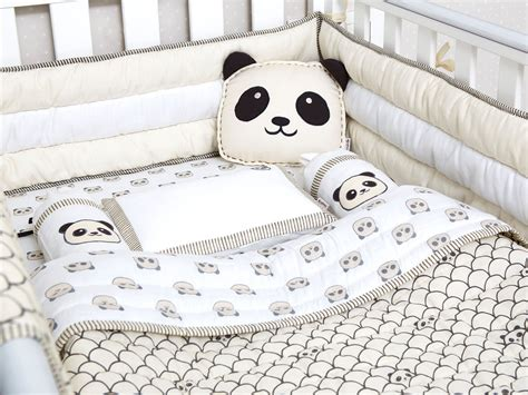 Organic Nursery Bedding Sets Peekaboo Panda Organic Crib Bedding Set Masilo Baby Bedding