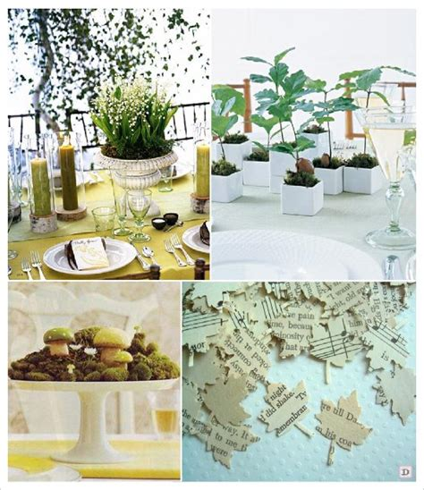 Incroyable Idee Decoration Table Mariage #1: Decorationsdemariage_mariage_automne_centre_table_champignon_arbuste_ch%C3%AAne%20confettis_feuille.jpg