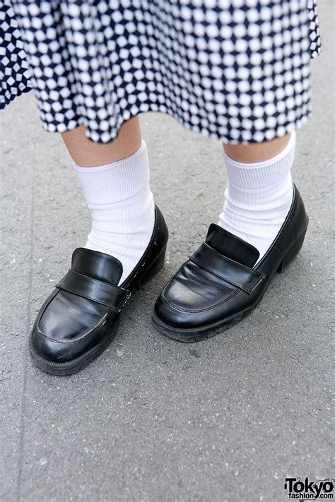 socks and loafers monochome harajuku styles w lad musician comme des
