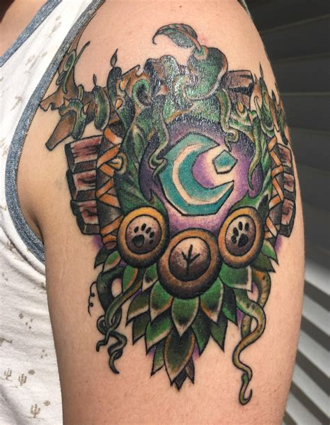 wow tattoos thought r wow would enjoy my druid class crest