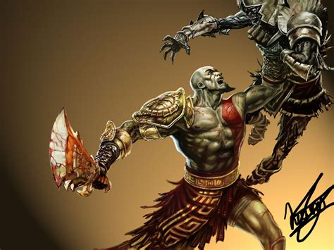 imagenes de kratos wallpaper mi dibujo de kratos god of war digital speed painting