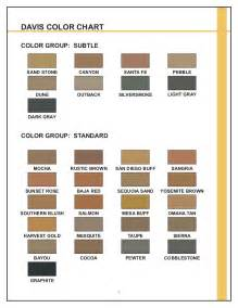 davis concrete color chart decorative concrete patios