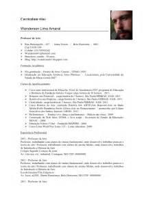 Curriculum Vitae Professor by Curriculum De Professor Atual