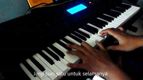 tutorial keyboard janji suci yovie and nuno janji suci piano youtube