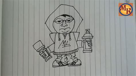 cara membuat gambar karakter 3d gambar graffiti di kertas the expert