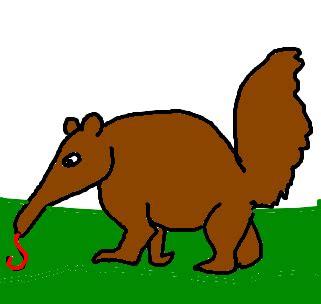 tamanduá desenho de cakarol gartic