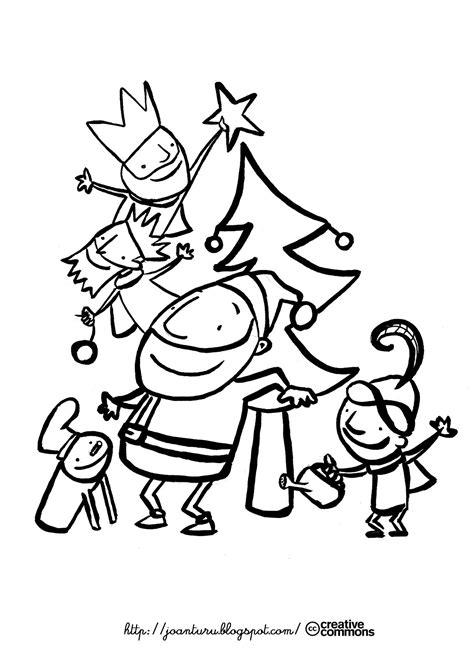 Dibujos del Caga Tió para pintar - Manualidades Infantiles