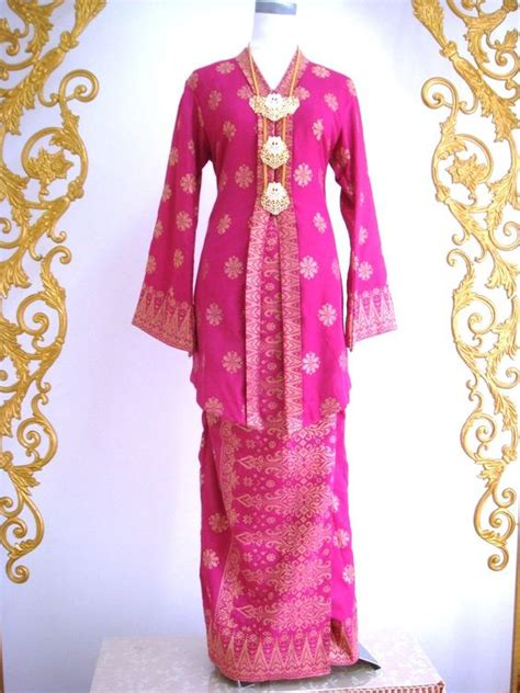 Longdres Songket pink songket tradisional search jackets and pink