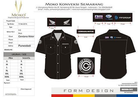 Baju Motor Indonesia by Baju Seragam Model Trans Tv Dealer Honda Cenadana Motor