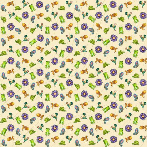 ditzy happy critters fabric amyelyse spoonflower